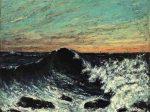 ギュスターヴ・クールベ《波、夕暮れにうねる海》1869年