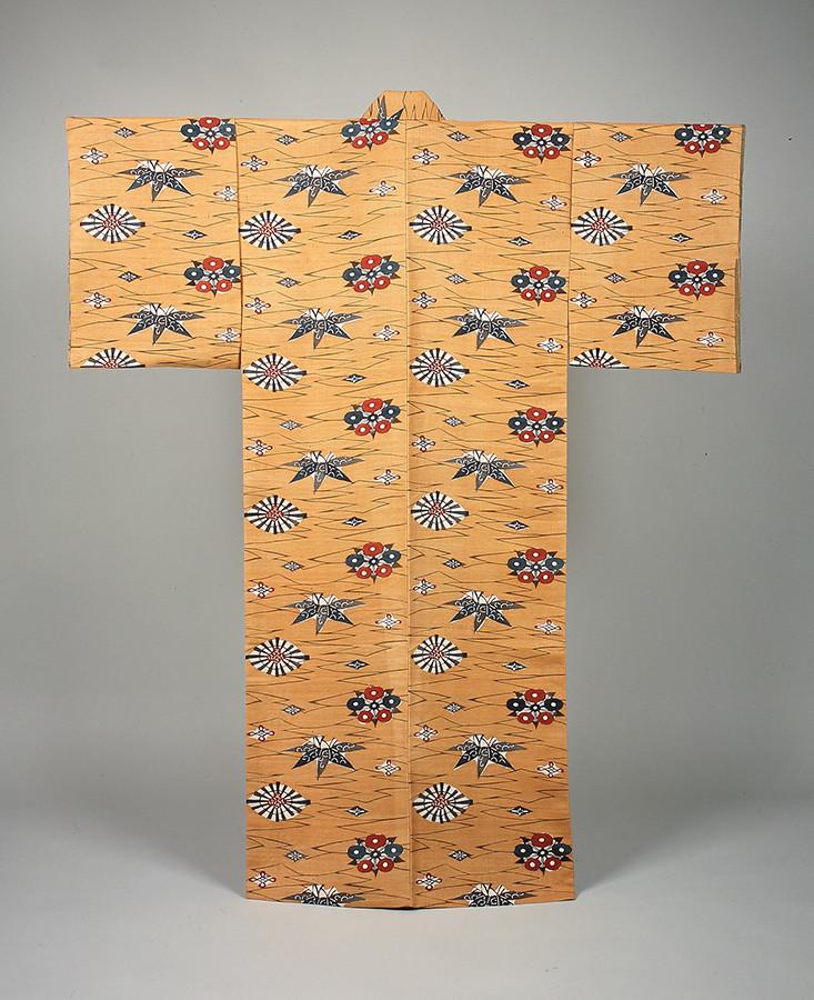 黄地松竹梅文着物 芹沢銈介 1933年 日本民藝館蔵