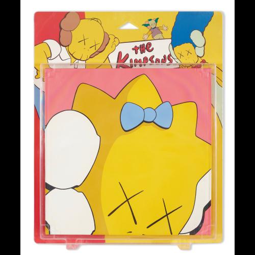 KAWS 「Untitled (kimpsons) 」 アクリル画40.6x40.6cm