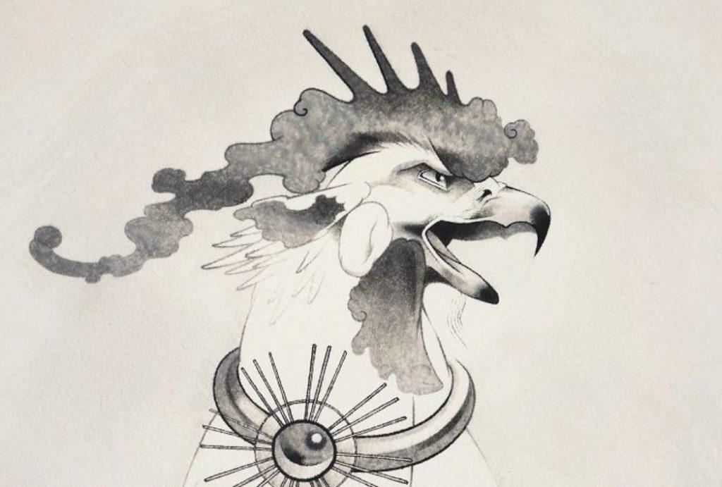 「日はまた昇る」(部分) 約90×180cm 紙本墨画