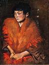 三岸好太郎《赤い肩かけの婦人像》1924(大正13)年 油彩、キャンバス 66.0×51.0cm 北海道立三岸好太郎美術館蔵