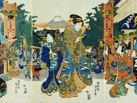歌川国貞 初春の駿河町 天保(1830~44)頃 国立歴史民俗博物館蔵