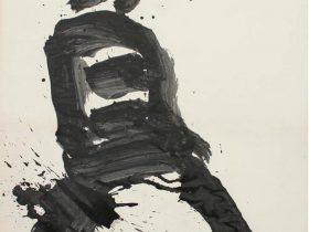 井上 有一 「貧」 制作年: 1974年 サイズ: 125.8x106.3 cm 素材・技法: 墨、和紙