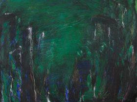 「植物についてのー考察」2021、油彩・キャンバス、130.5×162.2cm、撮影:山本糾