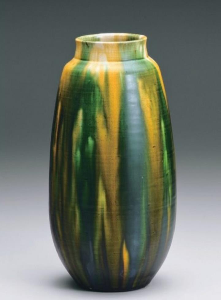「唐津三彩瓶」 径12.5×高24.2cm