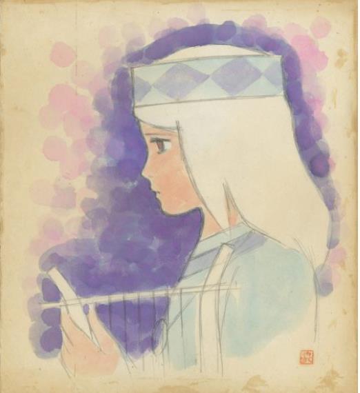 「太陽の王子 ホルスの大冒険」ヒルダ(色紙) © 東映