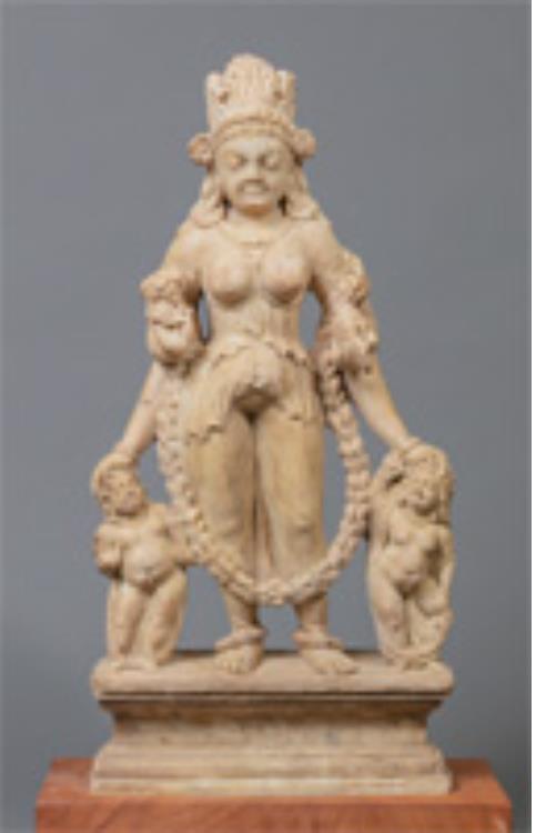 ヴァイシュナヴィー立像 ガンダーラ周辺 7~8世紀頃