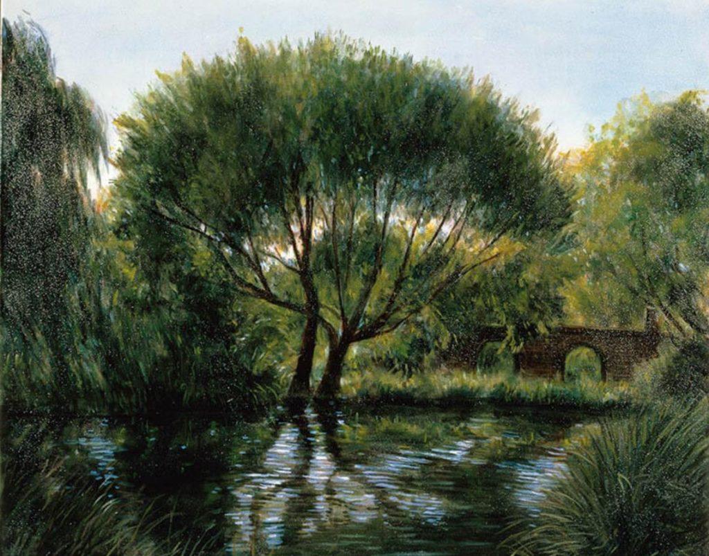 《残 照》1998年 油彩・キャンバス 72.7×91.0cm