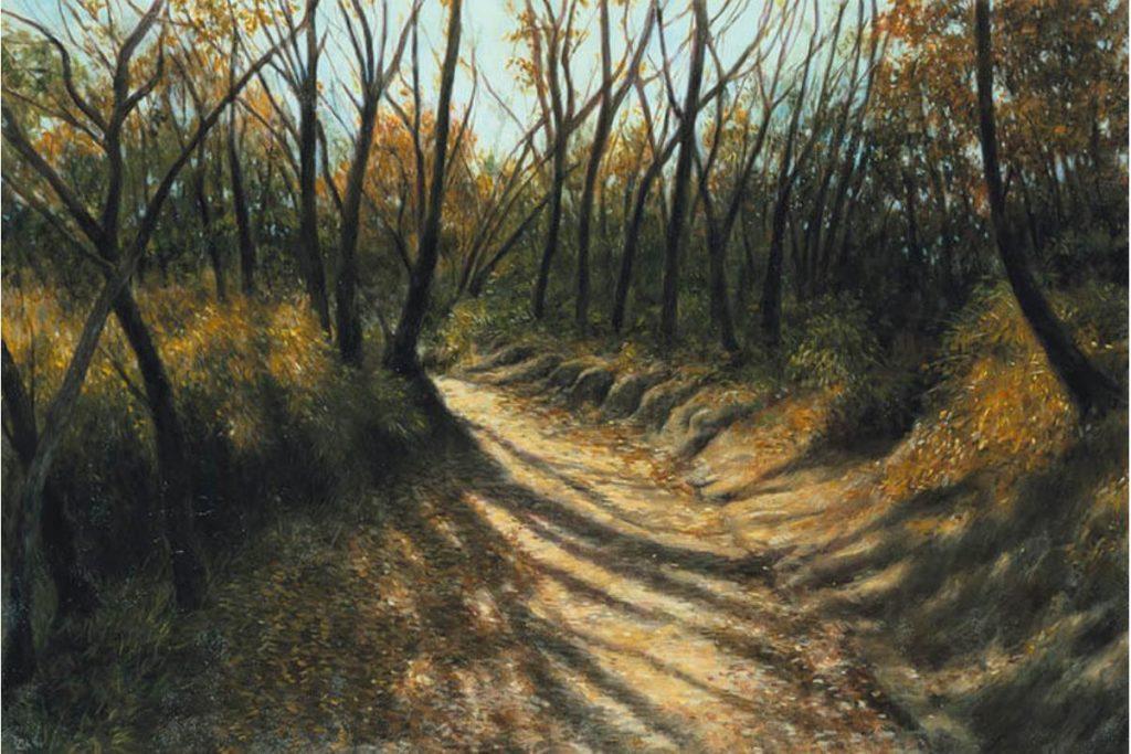 《冬の道》 1998年 油彩・キャンバス 130.3×193.9cm