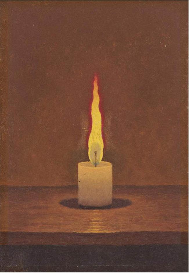 髙島野十郎「蝋燭」昭和40年頃、福岡県立美術館蔵