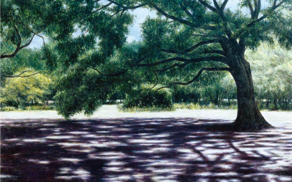 《樹影の光景》1999年 油彩・キャンバス 162.1×259.1cm
