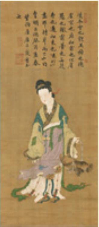 魚籃観音像 中国 明・正徳8年(1513)賛 香雪美術館 <後期>