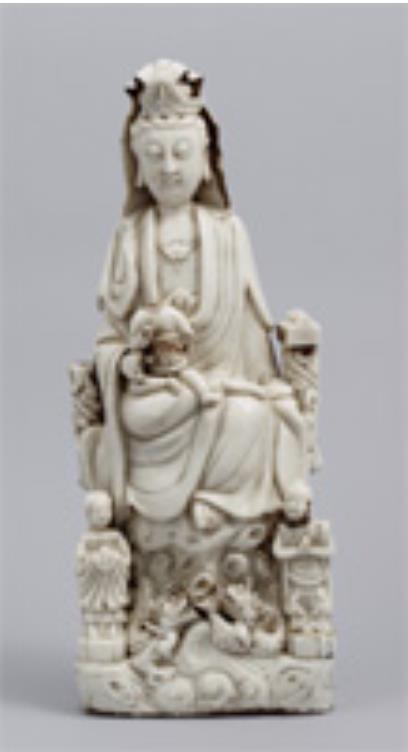 [重要文化財] 観音菩薩童子像(マリア観音) 中国 明~清時代・17世紀 東京国立博物館 Image: TNM Image Archives