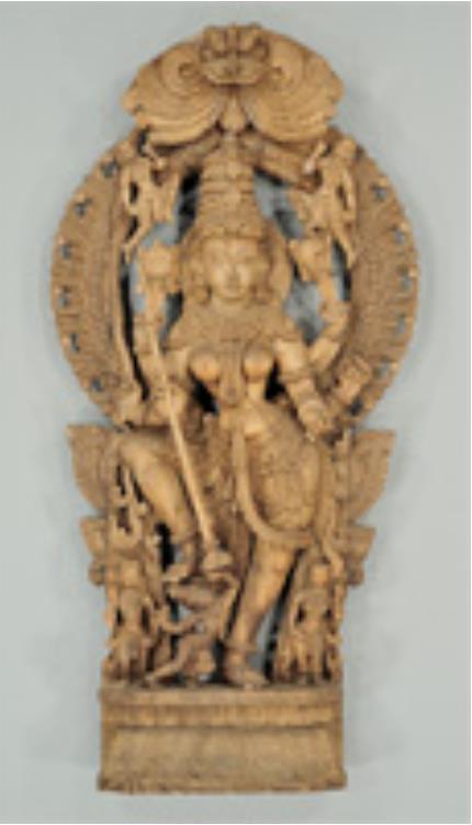 ドゥルガー立像 インド 20世紀 国立民族学博物館