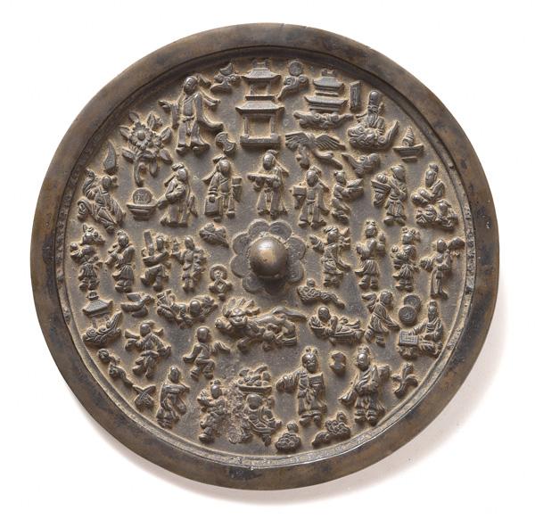 人物文鏡 中国・金~元時代 西教寺蔵