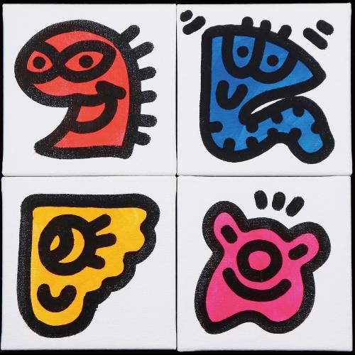 Mr.Doodle 「Doodling」 アクリル画30.5x30.5cm
