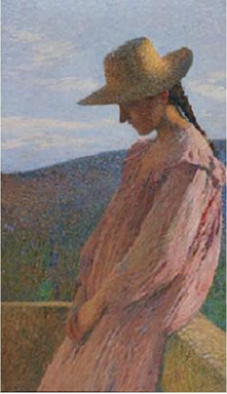 アンリ・マルタン 《腰掛ける少女》 1904年以前 ランス美術館蔵 ©C. Devleeschauwer