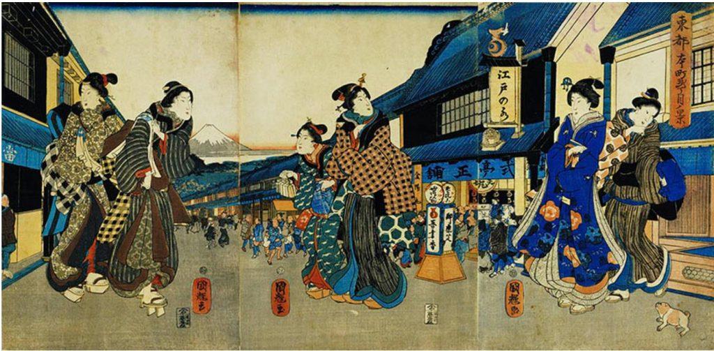 歌川国輝 東都本町弐丁目ノ景 弘化(1844~48)頃 国立歴史民俗博物館蔵