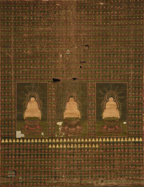 三千仏図 室町時代 西教寺蔵