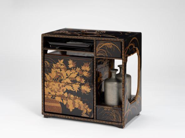 「花籠蒔絵提重」江戸時代(18世紀) 奈良県立美術館蔵