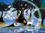 藤城清治 生きるよろこび  1995©Seiji Fujishiro/HoriPro (478×555mm 350部)