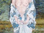 石本正「広沢湖畔」2001(平成13)年