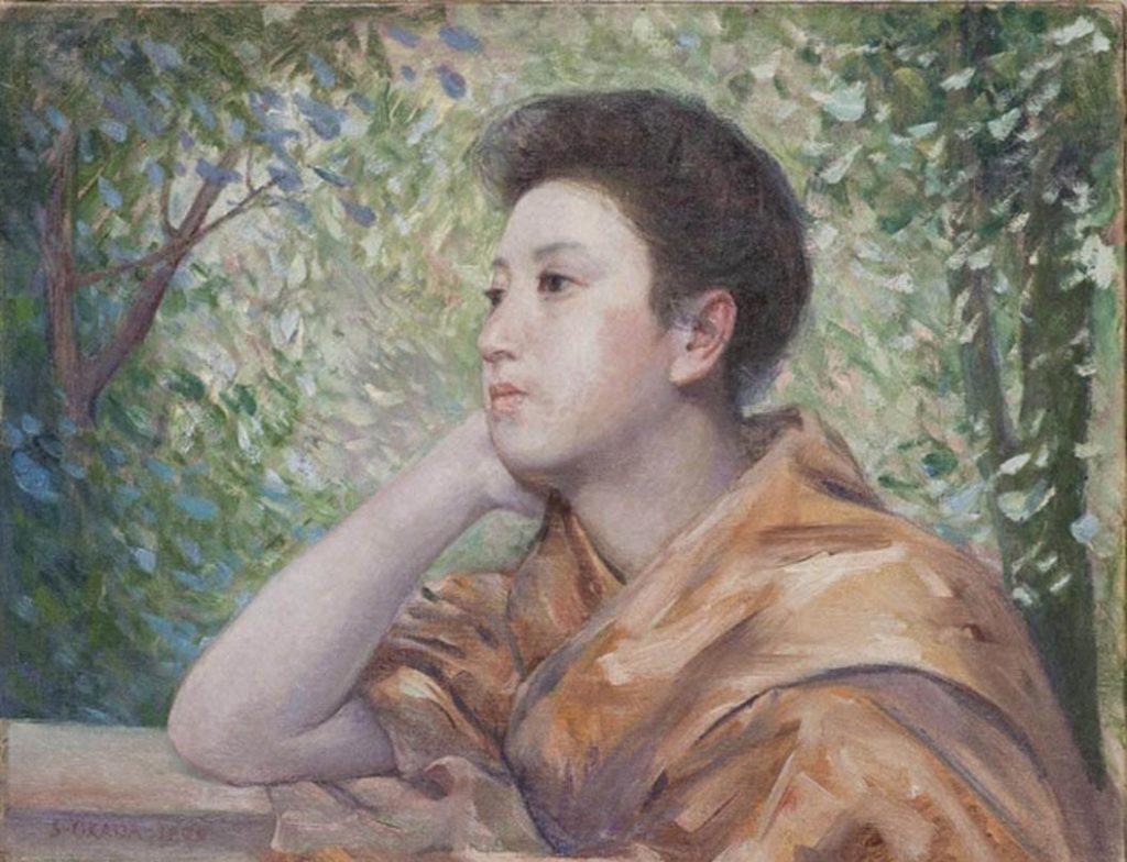 岡田三郎助「婦人像」明治42年、福岡県立美術館蔵