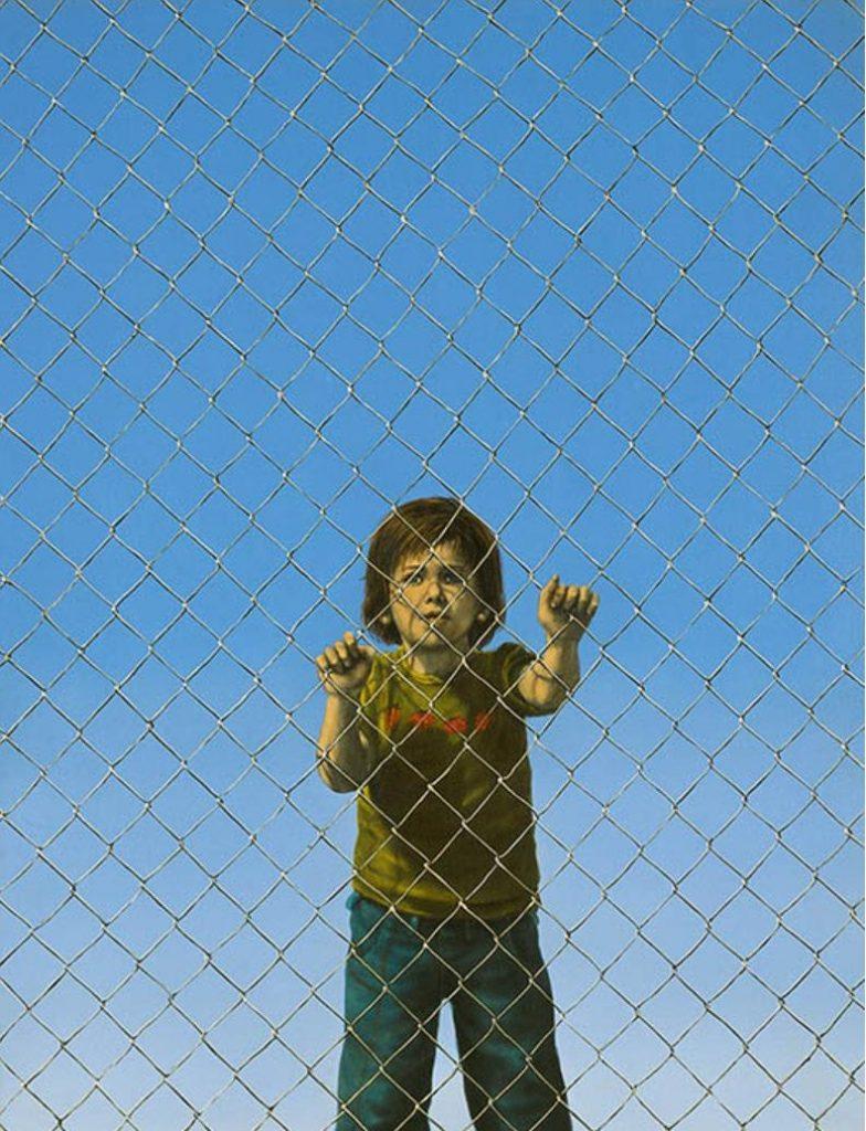 《フェンス》1976年 油彩・キャンバス 145.5×112.1cm