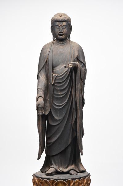 大津市指定文化財 阿弥陀如来立像(逆手) 鎌倉時代 西教寺蔵