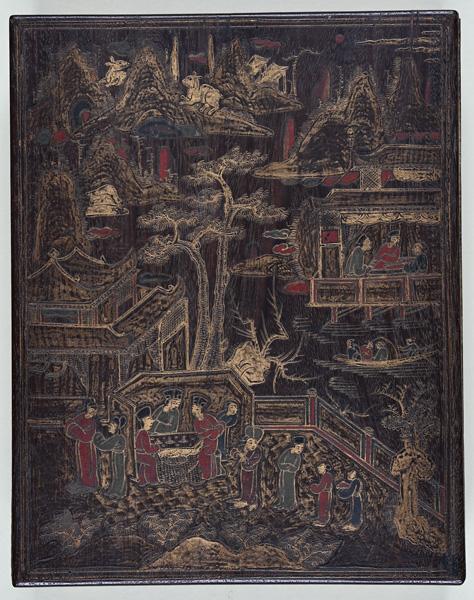 南蛮硯箱 琉球王朝時代か 西教寺蔵