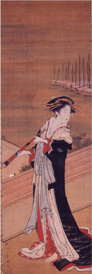 歌川豊国(初代)《遠目鏡美人図》