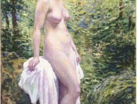 岡田三郎助《水辺の裸婦》(1935)
