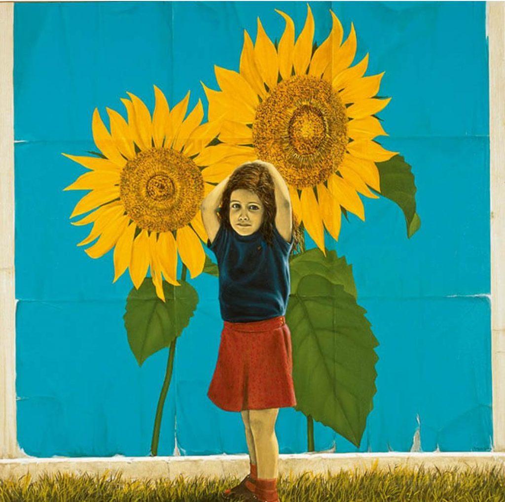 《向日葵》1977年 油彩・キャンバス 162.1×162.1cm