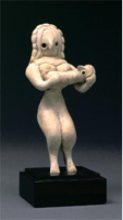 女性土偶 バローチスタン(パキスタン) 前2800~2600年頃 平山郁夫シルクロード美術館