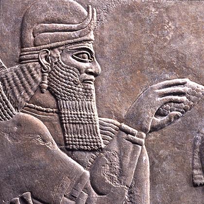 精霊と従者浮彫 新アッシリア 紀元前883-859年