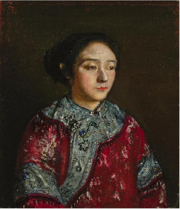 岸田劉生《支那服を着た妹照子像》(1921)