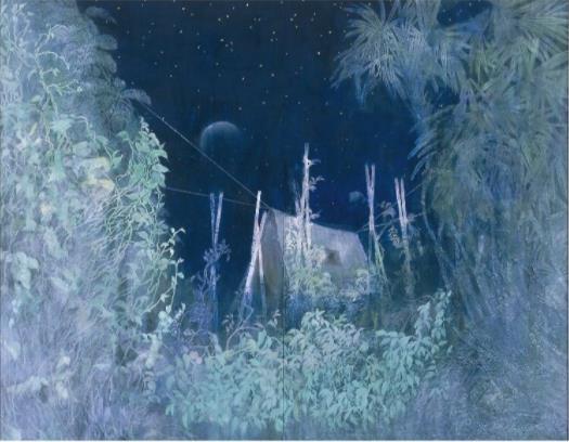 『星降る夜に』/F150号(181.8×227.3cm)  再興第106回院展(非売品)