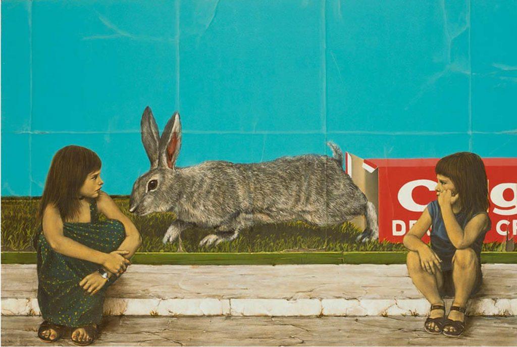《アリス論》1976年 油彩・キャンバス 130.3×193.9cm