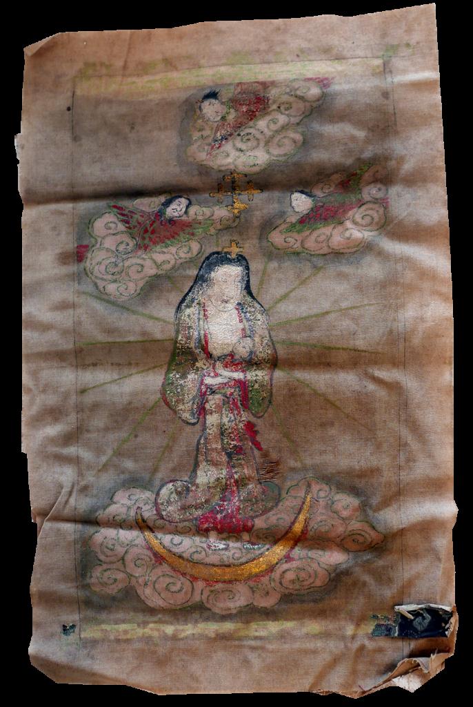 お掛け絵「セビリヤの聖母」(平戸市生月町博物館・島の館蔵)