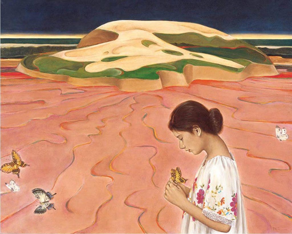 《海 蝕(Ⅱ)》1984年 油彩・キャンバス 130.2×161.9cm