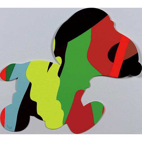 KAWS 「Untitled(SNOOPY)」 シルクスクリーン 22.8×25.4㎝