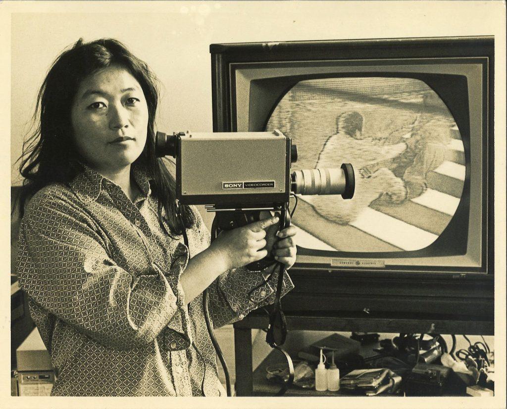 Shigeko Kubota Portrait © Tom Haar, 1972 Courtesy of Tom Haar and Shigeko Kubota Video Art Foundation
