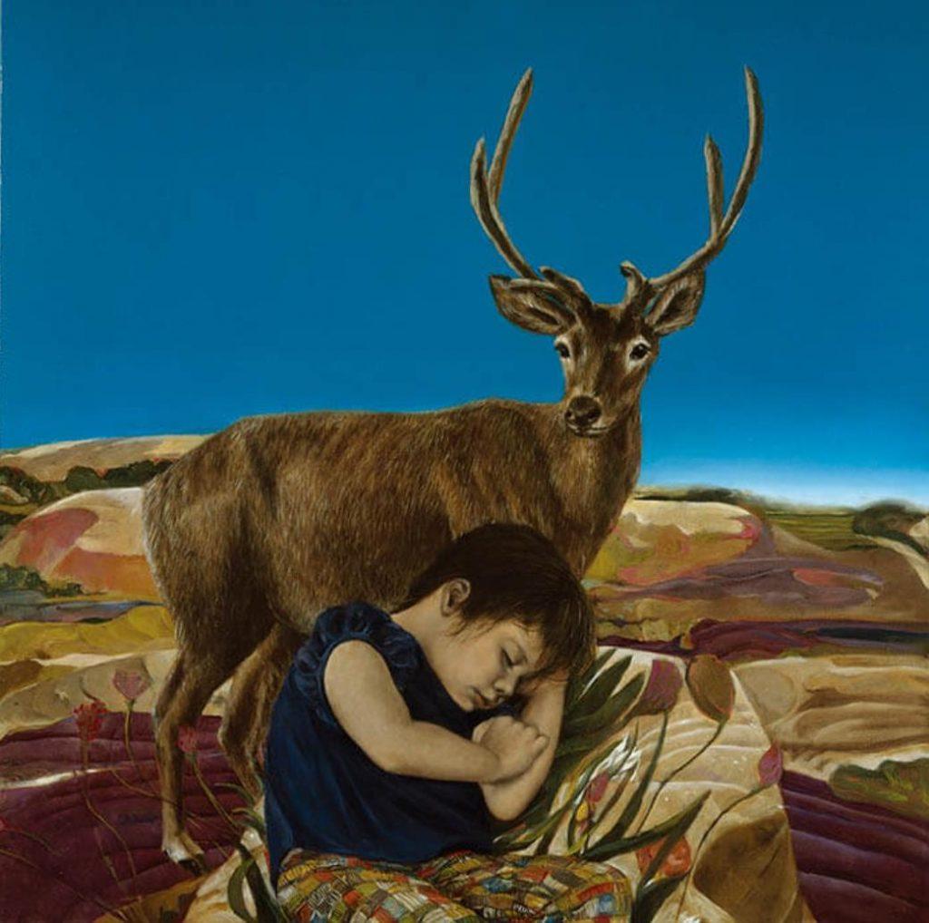 《丘陵地帯(Ⅰ)》 1986年 油彩・キャンバス 130.3×130.3cm