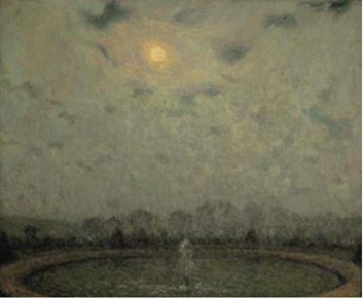 アンリ・ル・シダネル 《ヴェルサイユ、月夜》 1929年 フランス、個人蔵 ©Yves Le Sidaner