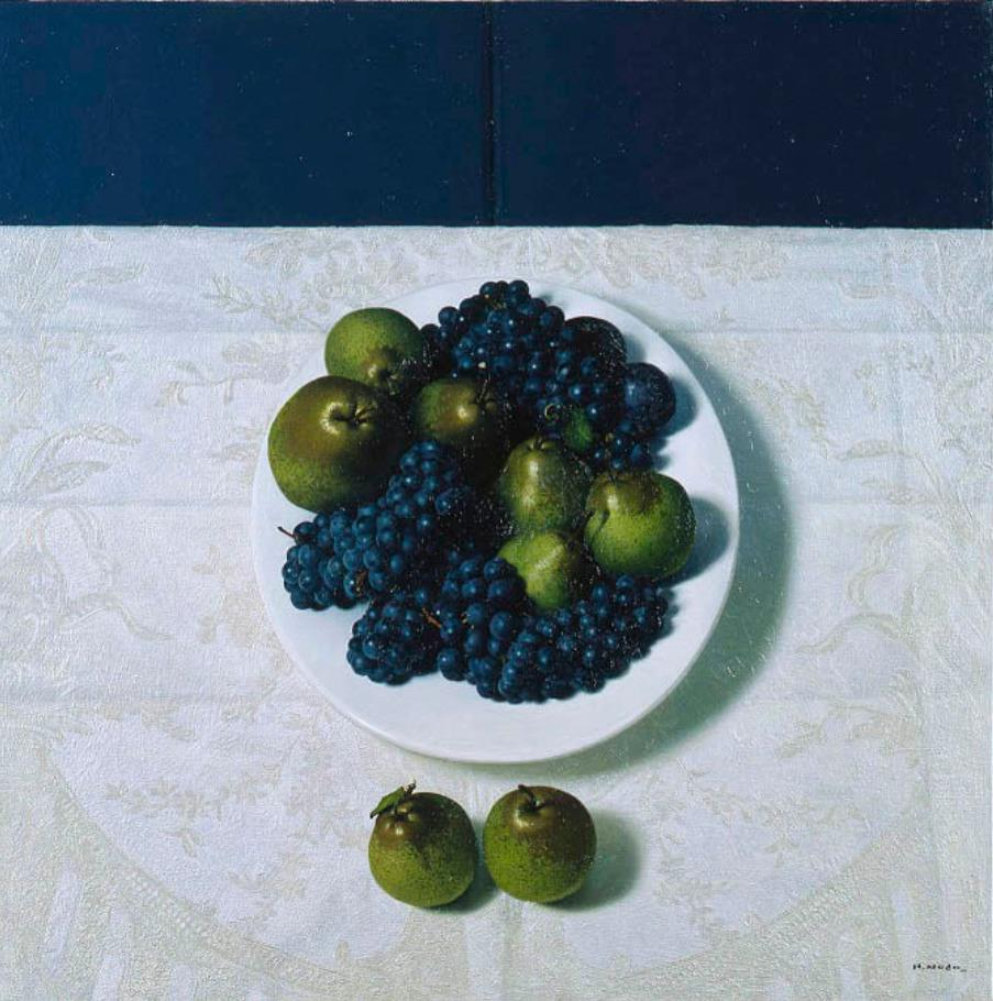 野田弘志《皿と果物Ⅰ》 2004 年