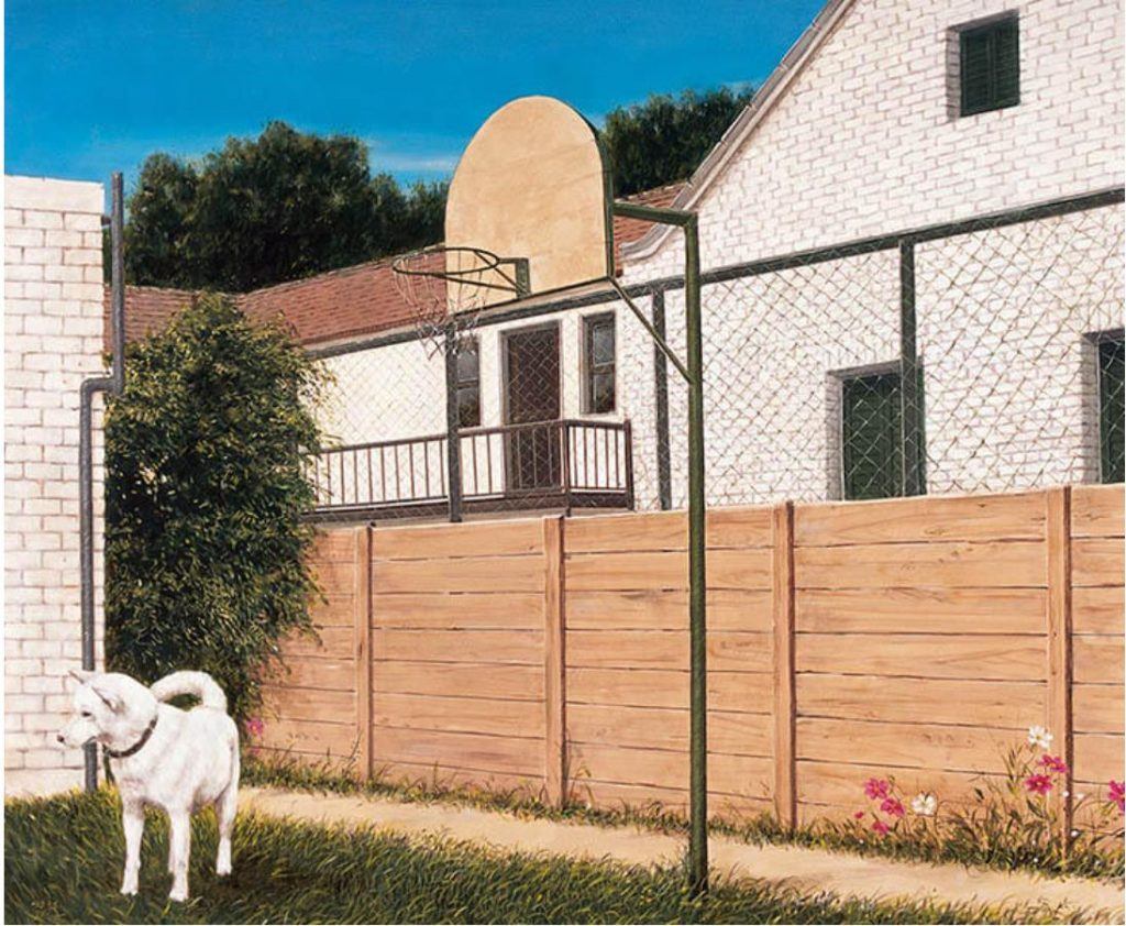 《裏 庭》 1993年 油彩・キャンバス 162.1×194.3cm