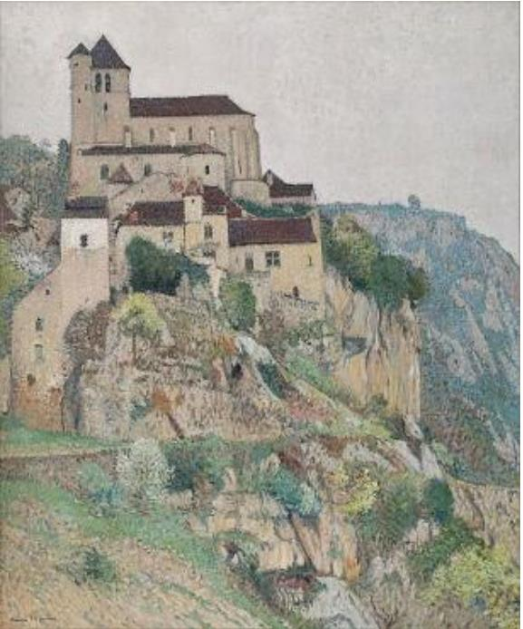 アンリ・マルタン 《サン・シル・ラポピーの崖》 1911年頃 フランス、個人蔵 ©Archives photographiques Maket Expert