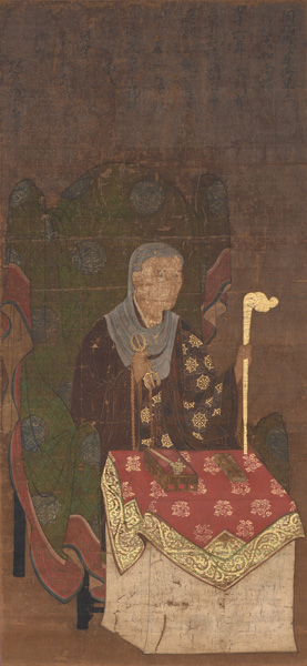 滋賀県指定文化財 慈威和尚像 延文元年(1356年) 西教寺蔵