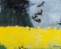 三岸節子《ブルゴーニュにて》1989(平成元)年 油彩、キャンバス 81.0×100.0cm 一宮市三岸節子記念美術館蔵 ©MIGISHI