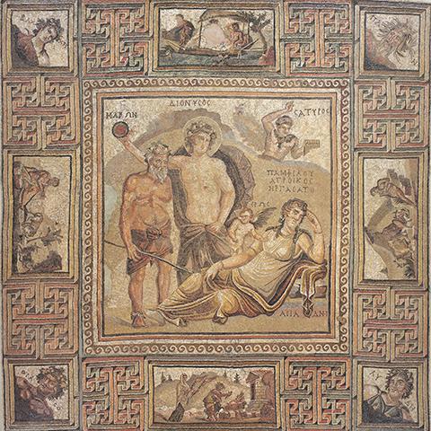 ディオニュソス・モザイク ローマ 伝シリア出土 3-4世紀